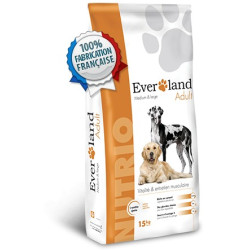 Croquettes chien Everland Nutrio Adultes Medium et Large 15Kgs