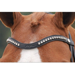 "Frontal V cristaux Swarovski blancs ""Dressage Collection"" Dy'on"