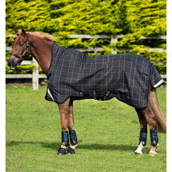 Couverture cheval Horseware Rhino Wug Vari Layer black grey white check & grey