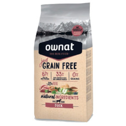 Croquettes Just Grain Free Canard Ownat 3 kg