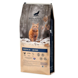 Croquettes Sensitive Cat Low Grain Wolfood 10kg