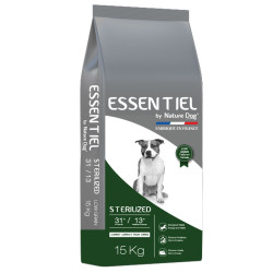 Croquettes Essentiel Sterilized 31/13 Low Grain Nature Dog 15 kg