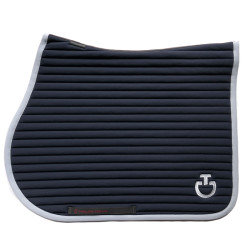 Tapis de selle Quilted Row Jersey Jumping Cavalleria Toscana noir