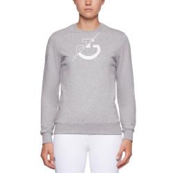 Sweatshirt Team Gris chiné Cavalleria Toscana