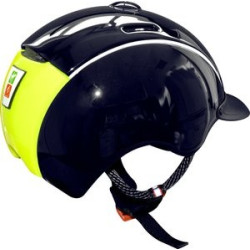 "Casque CASCO ""Nori"" noir mat, impression comic"